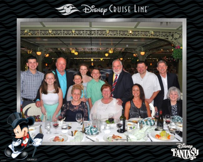 Disney cruise friends on formal night