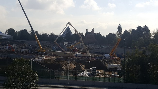Star Wars Land is starting to take form at Disneyland Resort.