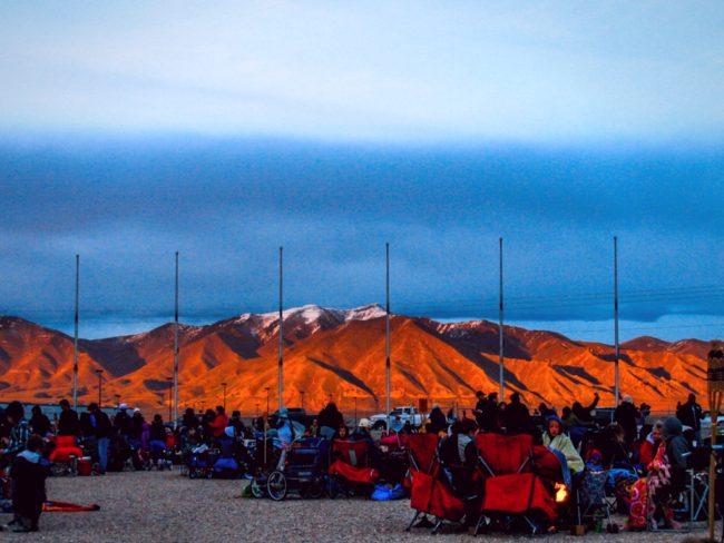 Gorgeous sunset at Lantern Fest Utah 2016