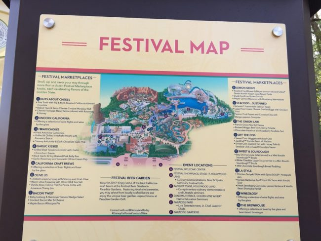 Food & Wine Festival Map