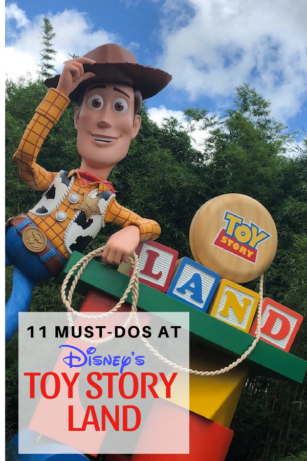 Follow our 11 Must-Dos in Disney's Toy Story Land to make sure you don't miss a thing. #ToyStoryLand #Disney #DisneyParks #PlayBig #HollywoodStudios #SlinkyDogDash
