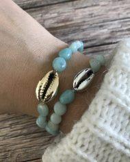 bracelet-pierre-naturelle-amazonite-grain-de-riz-cauri-argent-4