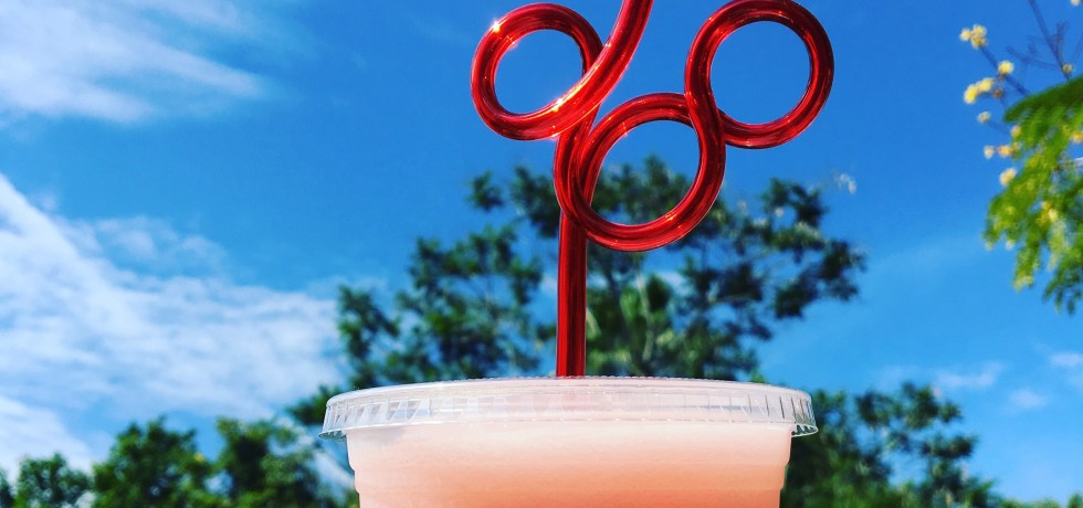 Walt Disney World, Mickey Straw, Frozen Minute Maid Raspberry Lemonade, Sunshine Tree Terrace