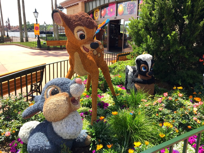 Photo of Bambi and Friends topiary at 2018 Epcot International Flower & Garden Festival