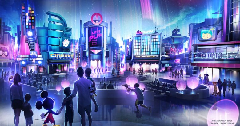 Photo of concept art for Epcot's Play pavilion