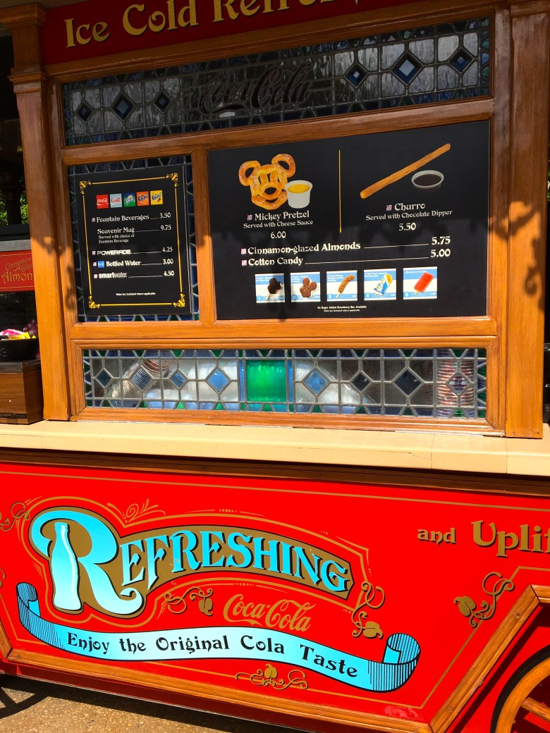Photo of refreshment cart at Magic Kingdom