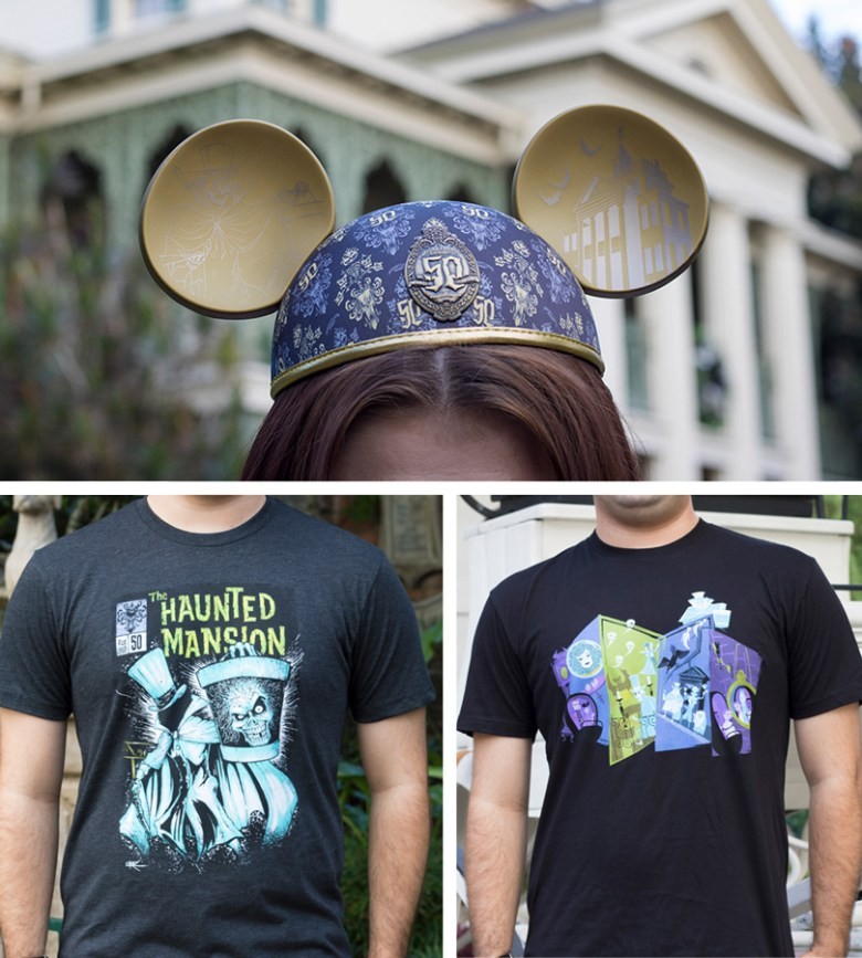 Photo of Disneyland's Haunted Mansion 50th anniversary merchandise