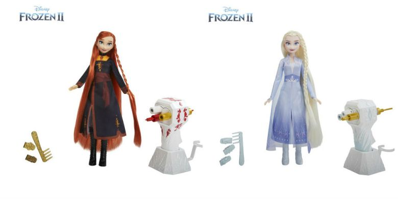 Photo of Hasbro Frozen 2 Anna and Elsa hairstyling dolls