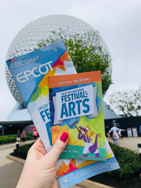 Photo of Epcot International Festival of the Arts 2020 map and passport