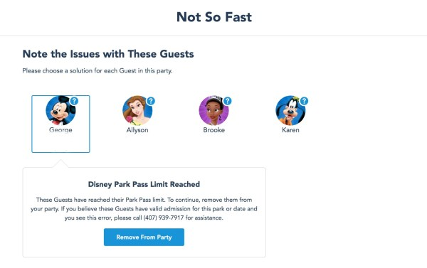 Photo of Disney Park Pass reservation system