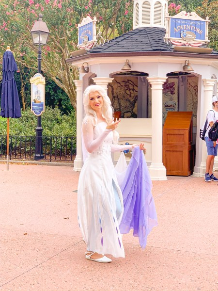 Elsa from Frozen at Epcot