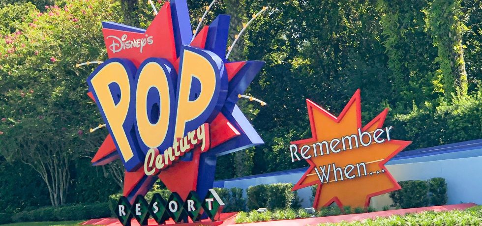 Photo of Pop Century sign in Walt Disney World