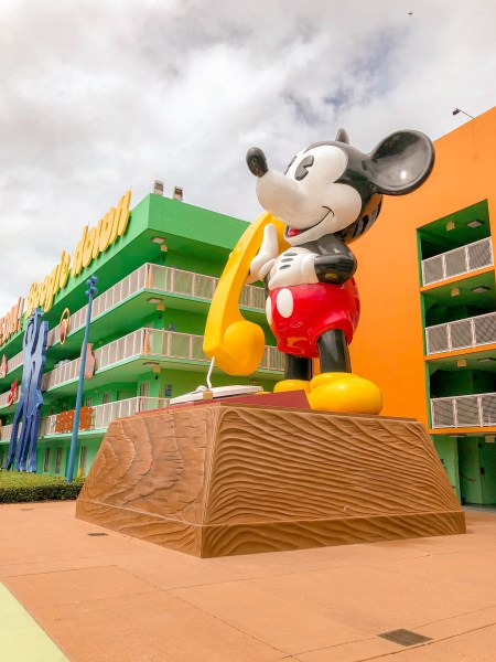 Giant Mickey Mouse at Disney's Pop Century Resort