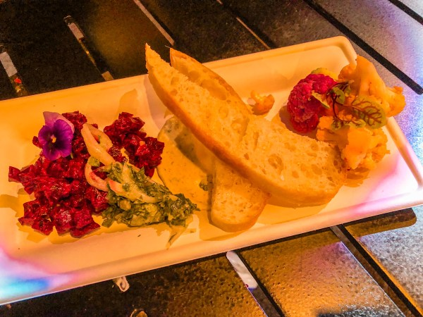 beet tartare at 2021 festival of the arts