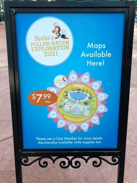 spike the bee scavenger hunt at 2021 epcot flower and garden festival