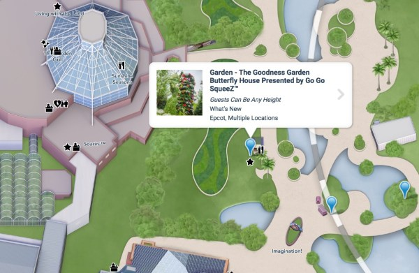 butterfly house at 2021 epcot flower and garden festival