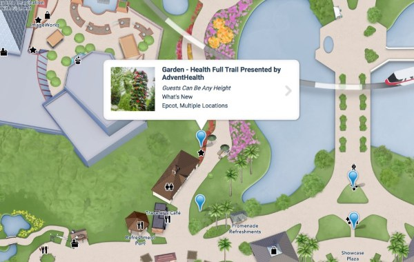 epcot flower and garden health full trail