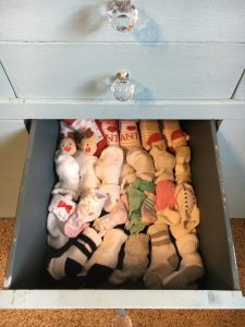 baby socks drawer organize baby clothes
