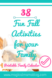 38 fun fall activites for your family, family night, family bonding, autumn fall family game night magical mama blog