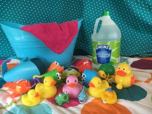 how to clean and disinfect bath toys vinegar cleaning magical mama blog