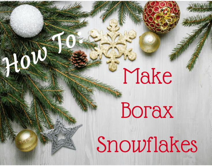 Magical Mama Blog How To Make Borax Snowflakes
