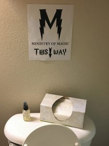 magical mama blog harry potter first birthday party ministry of magic sign toilet
