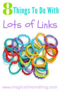8 Things to Do with lots of links linky toys plastic chain toys - magical mama blog