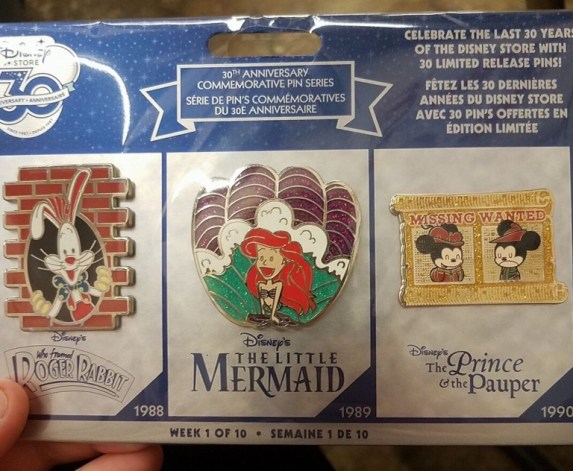Disney Store 30th anniversary week 1 limited edition pin set