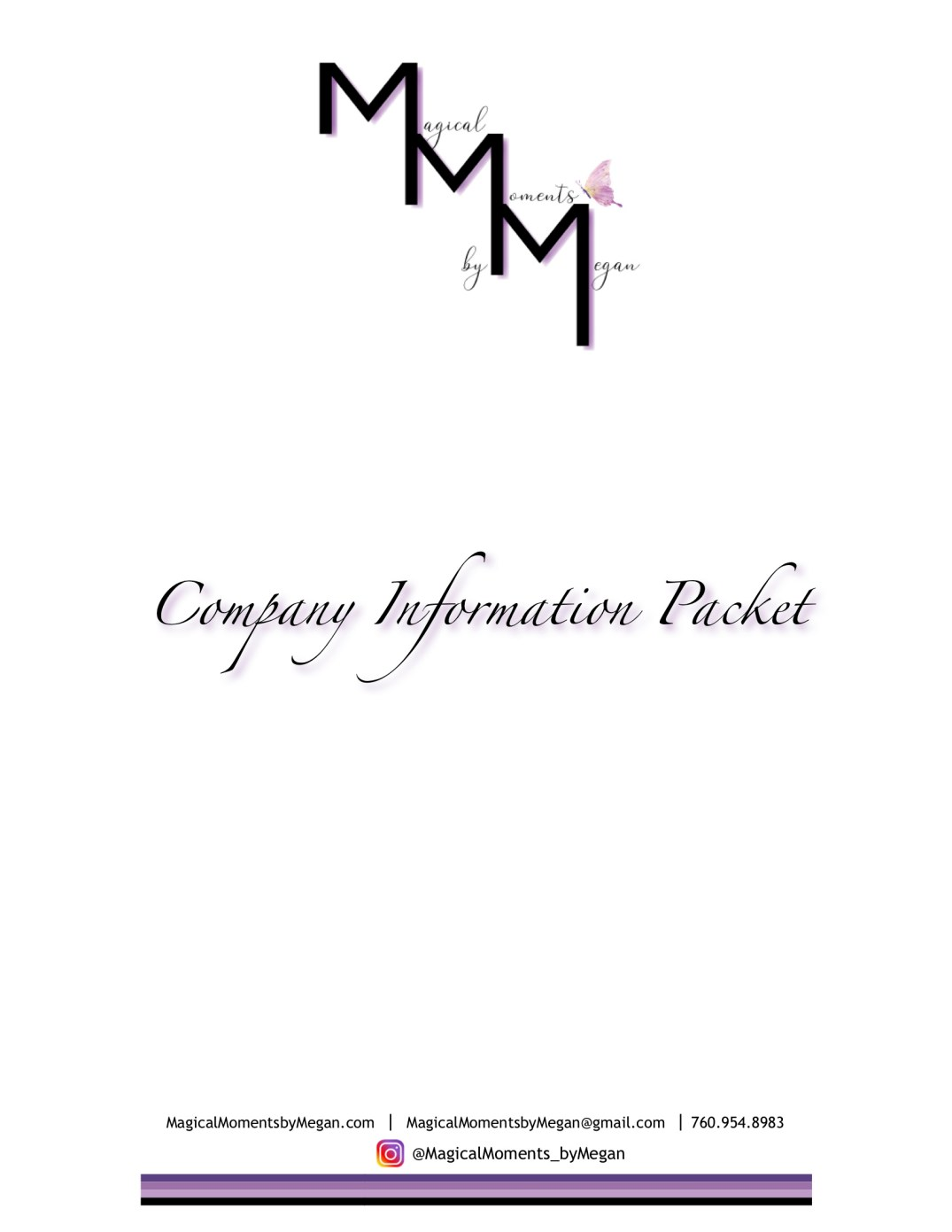 Magical Moments by Megan - Company Information Packet_1