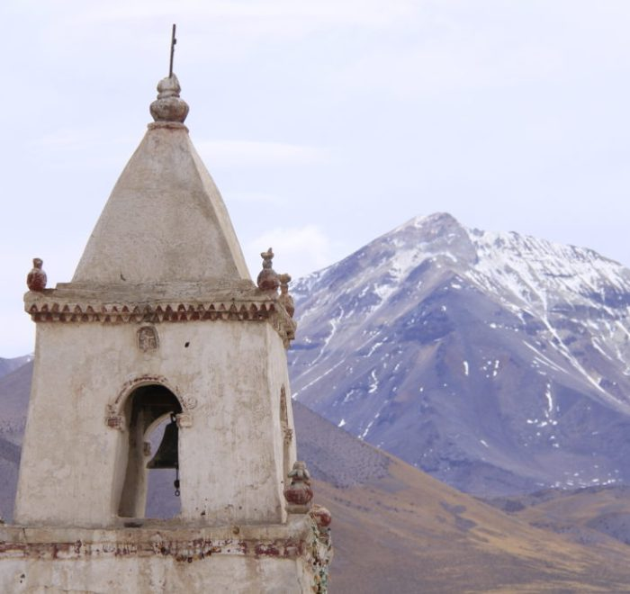 Poblado de Isluga, torre de campanas