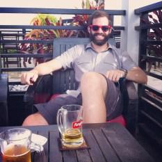 Paul enjoying happy hour in Phenom Penh