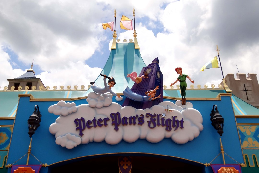 Entrance of Peter Pan's Flight at Magic Kingdom in Walt Disney World