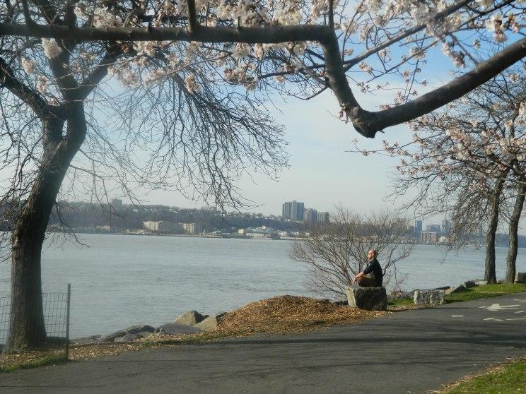 Hudson River_meditating man_2