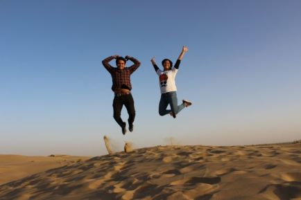 Sunset fun in desert safari Jaisalmer, Rajasthan
