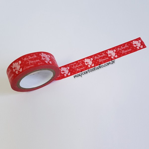 Washi tape vermelha decorada Minnie
