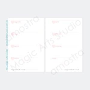 Visão semanal em duas páginas, horizontal, tamanho pocket