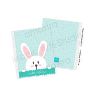 Capa e contra capa em Wire-o Bunny Fundo Verde - tamanho Large