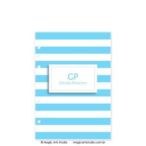 Dashboard Listras Azul Claro - tamanho A5