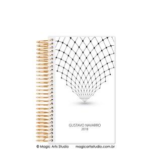 Magic Planner tamanho personal com espiral dourado - Abstract minimalist