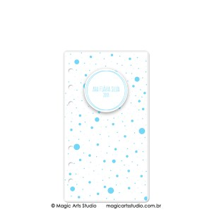 Dashboard Dots Azul Claro - tamanho Personal