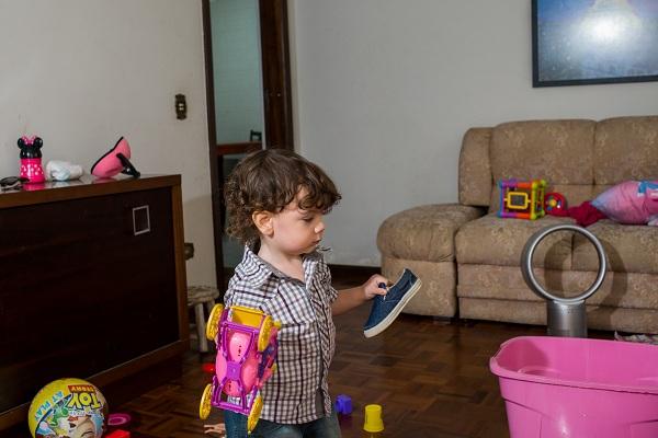 Organizar brinquedos das crianças