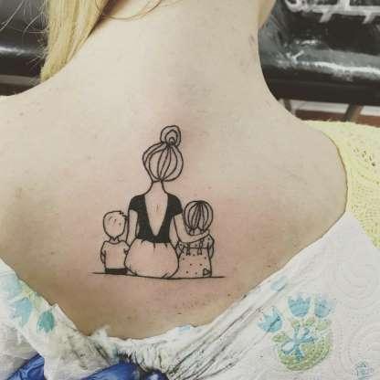 tatuagem mãe e filho