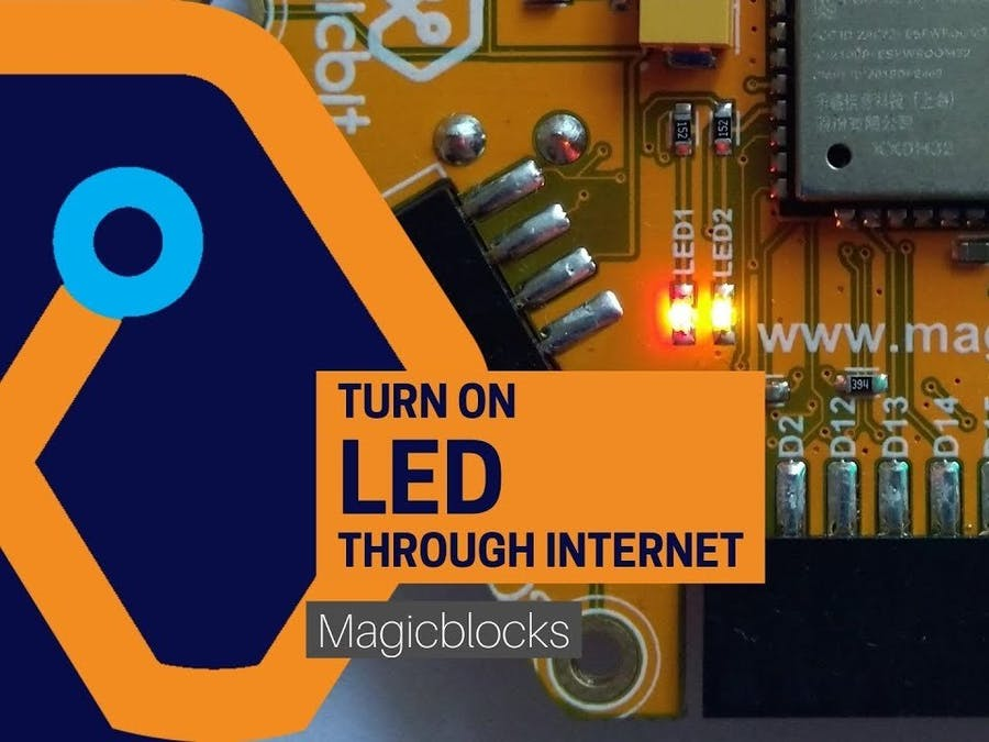 Magicblocks Lesson 05: Control light over the internet