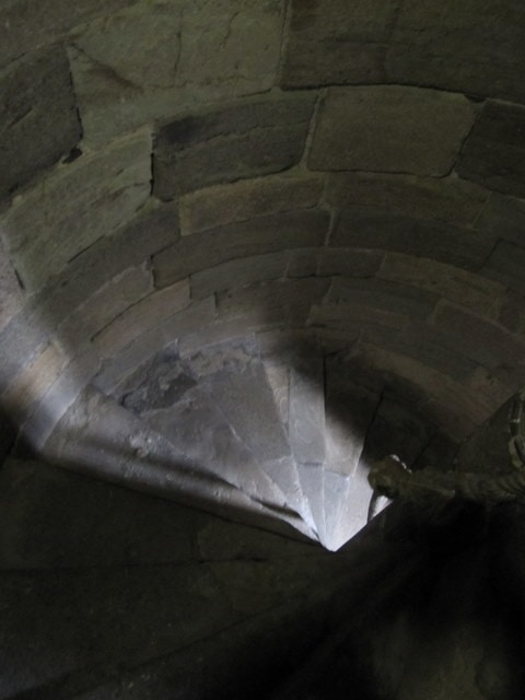 Inside a tower stairs at Caernarfon Castle