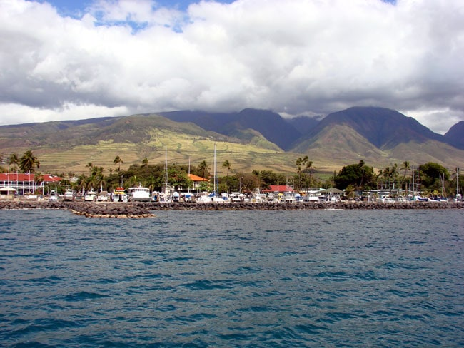 Picturesque Lahina harbour. Photo by M. Maxine George Maui United States Hawaii