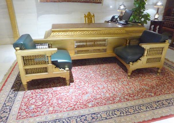 Gilded furnishing, Mena House Hotel