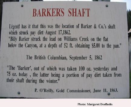 Barkerville Shaft sign BC