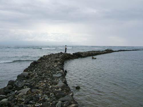 Ancient coastal fishponds are still used by Molokai fishermen. Hawaii