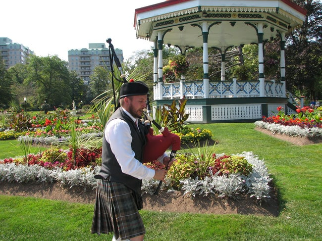 Piper in Halifax Public Gardens. Photo by Margaret Deefholts