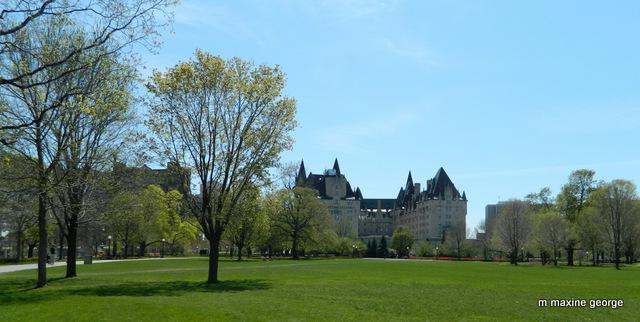 Fairmont Chateau Laurier backs onto Major's Hill Park